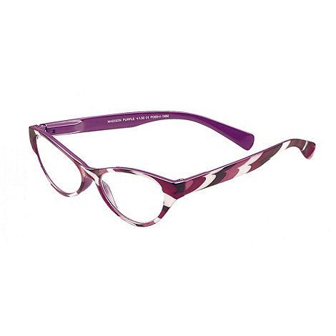 Sight Station - Madison purple fashion reading glasses