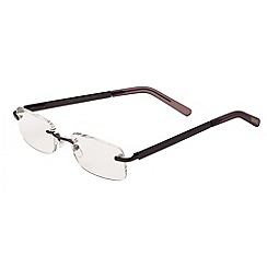 Sight Station - Blake satin gun fashion reading glasses