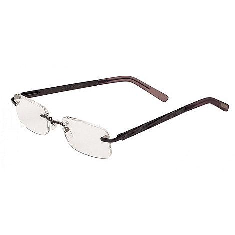 Sight Station - Blake satin gun fashion reading glasses