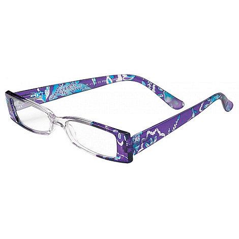 Sight Station - Linda purple and turquoise fashion reading glasses
