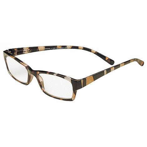 Sight Station - Sasha black and gold fashion reading glasses