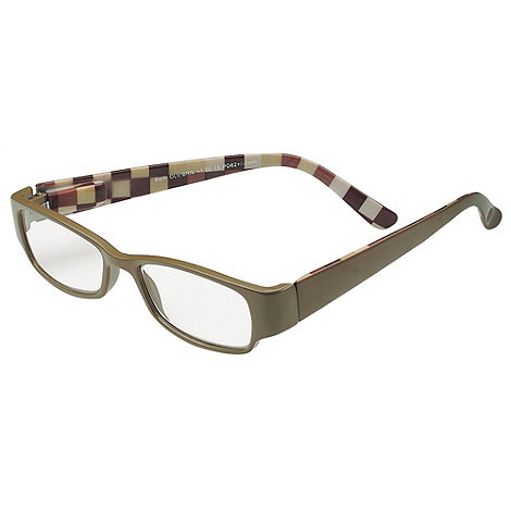 Sight Station - Beth olive and brown fashion reading glasses