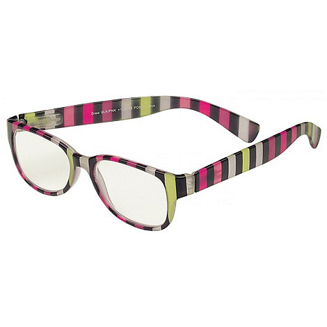 Sight Station - Drew black and pink fashion reading glasses