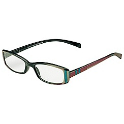 Sight Station - Lucy olive and brown fashion reading glasses