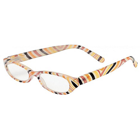 Sight Station - Pearl orange fashion reading glasses