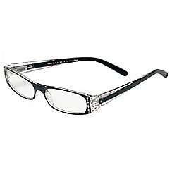 Sight Station - Irene black rhinestones fashion reading glasses