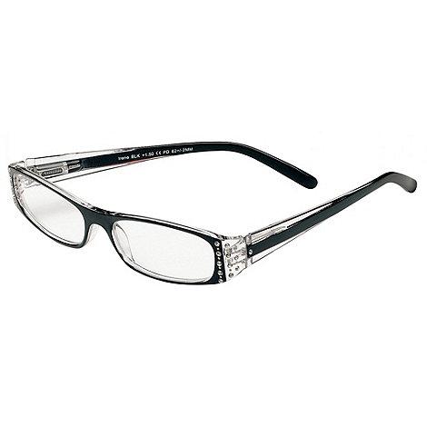Sight Station - Irene black rhinestones fashion reading glasses