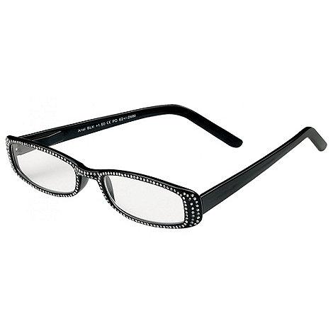 Sight Station - Ariel black rhinestones fashion reading glasses