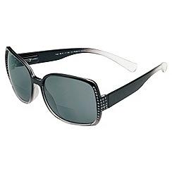 Sight Station - Kat black diamond reading sunglasses - two in one sunglasses and reading glasses