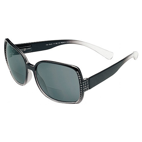 Sight Station - Kat black diamond reading sunglasses - two in one sunglasses and reading glasses