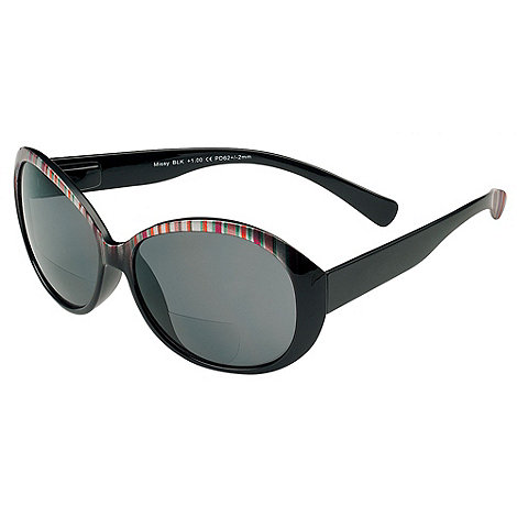 Sight Station - Missy black multi reading sunglasses - two in one sunglasses and reading glasses