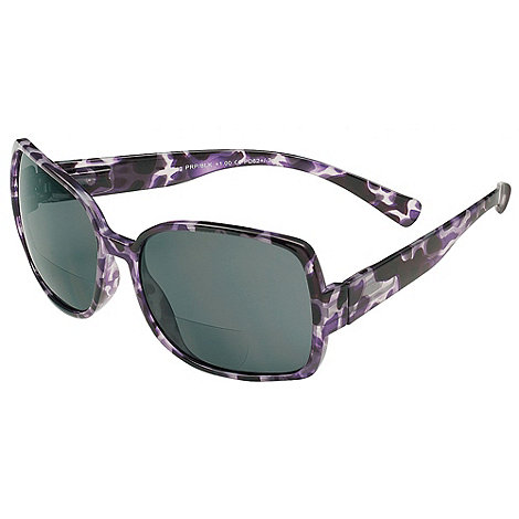 Sight Station - Ming purple and black reading sunglasses - two in one sunglasses and reading glasses