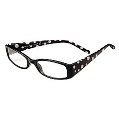 Sight Station - Henrietta black and white fashion reading glasses