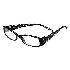 Sight Station - Henrietta black and white fashion reading glasses