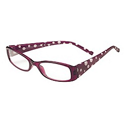 Sight Station - Henrietta purple and white fashion reading glasses