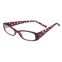 Sight Station - Henrietta purple and white fashion reading glasses