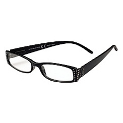 Sight Station - Jayne black fashion reading glasses