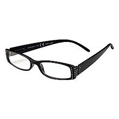 Sight Station - Jayne black fashion reading glasses