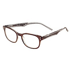Sight Station - Jean brown and clear fashion reading glasses