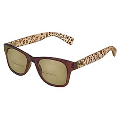 Sight Station - Claudia matte brown leopard reading sunglasses - two in one sunglasses and reading glasses