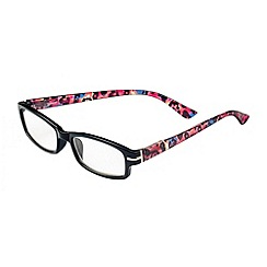 Sight Station - Alexa black with multicolour cheetah fashion reading glasses