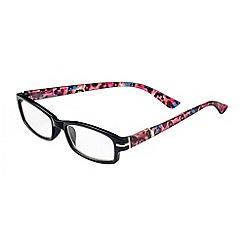 Sight Station - Alexa black with multicolour cheetah fashion reading glasses