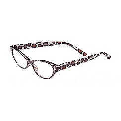 Sight Station - Khloe brown cheetah fashion reading glasses