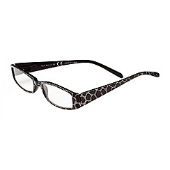 Sight Station - Nora black with silver croc pattern fashion reading glasses