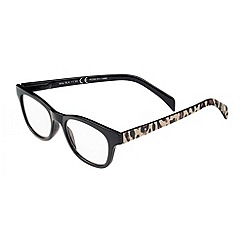Sight Station - Mila black with cheetah fashion reading glasses