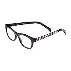 Sight Station - Mila black with cheetah fashion reading glasses
