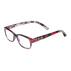 Sight Station - Violet purple and blue floral fashion reading glasses