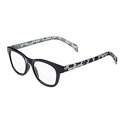 Sight Station - Piper navy with floral lace fashion reading glasses