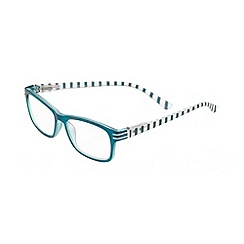 Sight Station - Evelyn blue striped fashion reading glasses