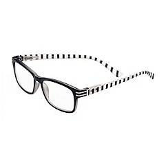 Sight Station - Evelyn black striped fashion reading glasses