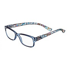 Sight Station - Makayla blue tribal fashion reading glasses