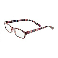 Sight Station - Madeline multicolour striped fashion reading glasses