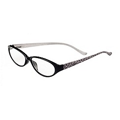 Sight Station - Alexandra black lace fashion reading glasses