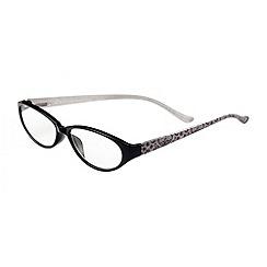 Sight Station - Alexandra black lace fashion reading glasses