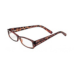 Sight Station - Katherine tortoiseshell rhinestone fashion reading glasses