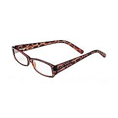 Sight Station - Katherine tortoiseshell rhinestone fashion reading glasses