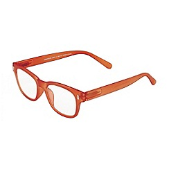 Sight Station - Emerson orange matte fashion reading glasses