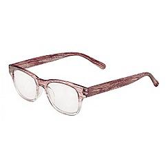 Sight Station - Mackenzie transparent and wood fashion reading glasses