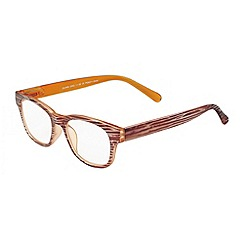 Sight Station - Quinn wood and orange fashion reading glasses
