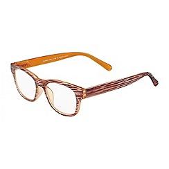 Sight Station - Quinn wood and orange fashion reading glasses
