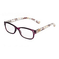 Sight Station - Maya plum tropical fashion reading glasses