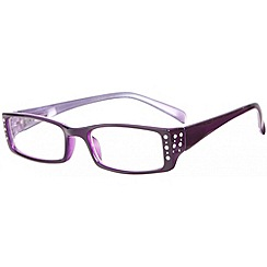 Sight Station - Blenheim plum fashion reading glasses