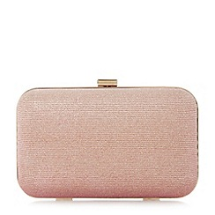 Dune - Rose 'Bsarah' hard case box clutch bag