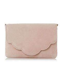 Dune - Light pink 'Bcurve' scallop edge clutch bag