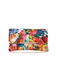 Dune - Multicoloured 'Bower' floral print clutch bag