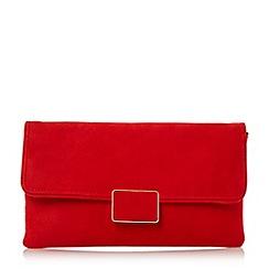 Dune - Red 'Binny' rectangular trim flap over clutch bag